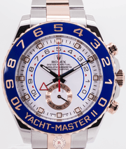 Rolex YACHT-MASTER II Steel and Everrose Gold 44mm 116681 - Watches R us