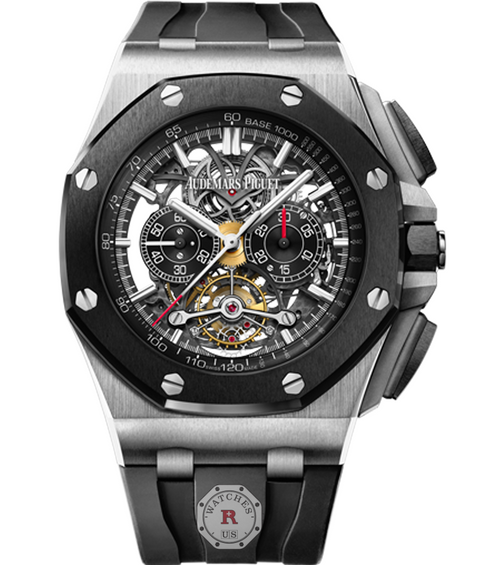 Audemars Piguet ROYAL OAK OFFSHORE TOURBILLON CHRONOGRAPH OPENWORKED - Watches R us