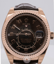 Rolex SKY-DWELLER Everose Gold 42mm 326135 - Watches R us