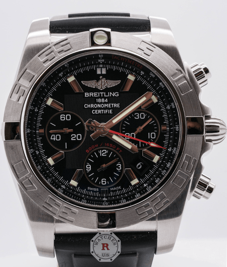 Breitling Chronomat 44 GMT Black Dial Limited Edition AB011012/B967 - Watches R us