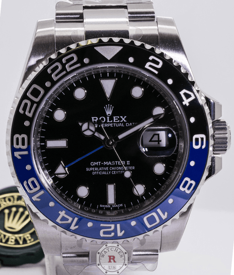 Rolex GMT-MASTER II 40mm Steel BATMAN 116710BLNR - Watches R us