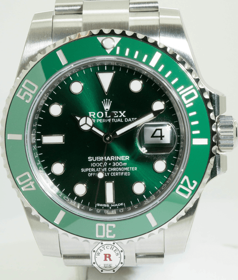 Rolex SUBMARINER DATE oyster 40mm Steel HULK 116610LV Stickers - Watches R us