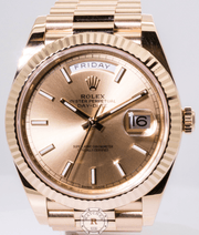 Rolex DAY-DATE 40 Oyster , 40mm , Yellow Gold 228238 - Watches R us