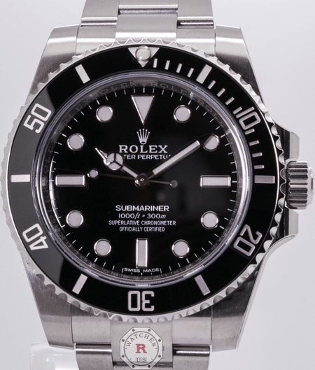 Rolex SUBMARINER NO-DATE 40mm Steel 114060 ( 2018 Model ) - Watches R us