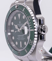 Rolex SUBMARINER DATE oyster 40mm Steel HULK 116610LV - Watches R us