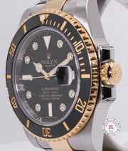 Rolex Submariner Date 116613LN Factory Diamond Dial - Watches R us