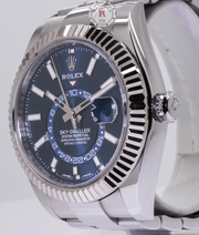 Rolex SKY-DWELLER 42mm Steel and White Gold - BLUE DIAL 326934 - Watches R us