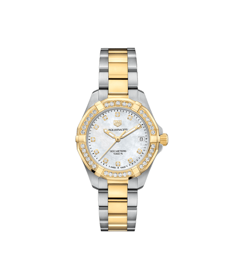TAG HEUER AQUARACER 18K Gold and Diamond Bezel - Watches R us