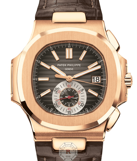 Patek Philippe 5980R - Nautilus  Self-winding Chronograph, Date. - Watches R us