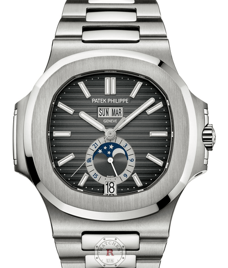 Patek Philippe 5726/1A - Nautilus  Self-winding Annual Calendar, Moon phases - Watches R us