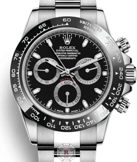 Rolex COSMOGRAPH DAYTONA Oyster, 40 mm, Oystersteel Black Dial - Watches R us