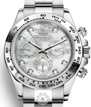 Rolex COSMOGRAPH DAYTONA White Gold 116509 - Watches R us