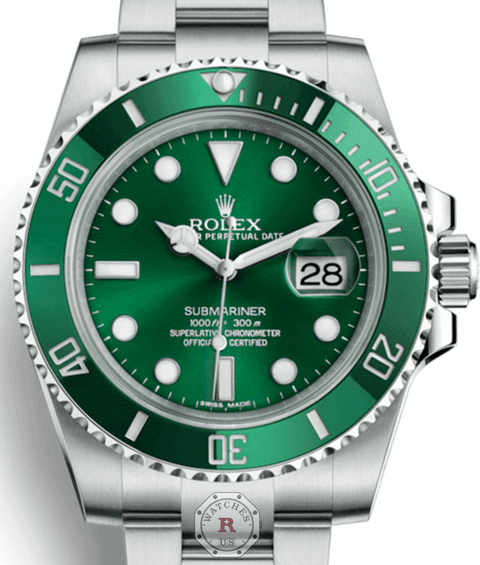 Rolex Submariner Steel HULK 116610LV - Watches R us