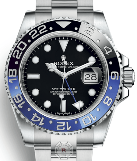 Rolex GMT-MASTER II Batman steel 40mm 116710BLNR - Watches R us