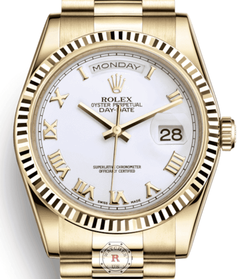 Rolex  DAY-DATE 36 Yellow Gold 118238 - Watches R us