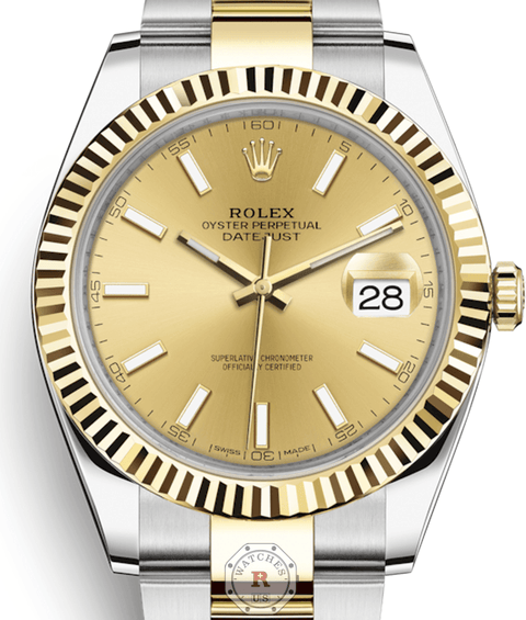 Rolex DATEJUST 41 Steel and Yellow Gold 126333 - Watches R us