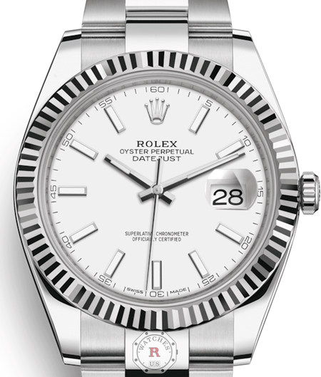 Rolex DATEJUST 41 Steel and White Gold 126334 - Watches R us