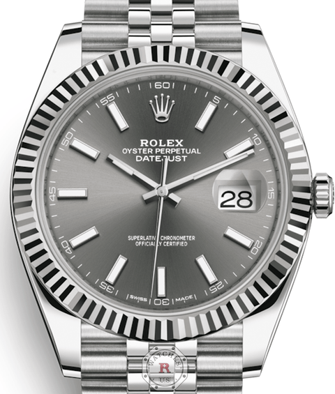 Rolex DATEJUST Steel and White Gold 41mm 126334 - Watches R us