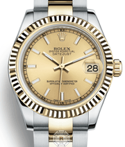 Rolex DATEJUST 31 Champagne Dial 178273 - Watches R us