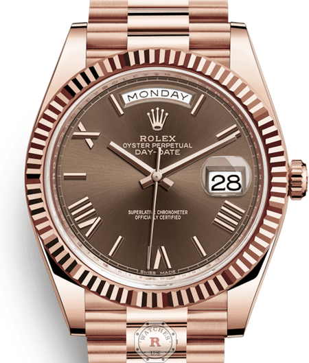 Rolex DAY-DATE 40 Everose Gold Chocolate Dial 228235 - Watches R us