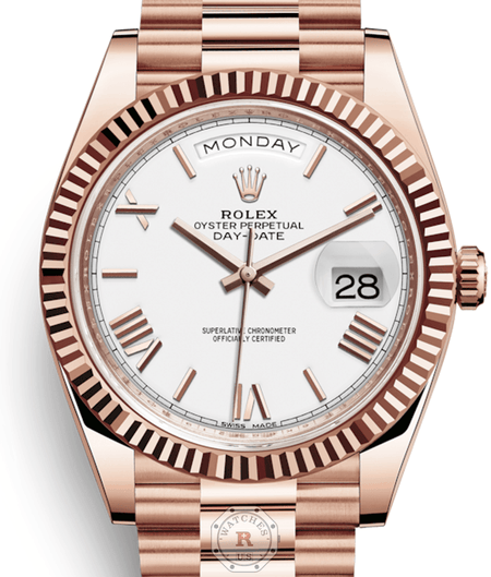 Rolex DAY-DATE 40 Everose Gold 228235 - Watches R us