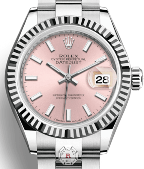Rolex LADY-DATEJUST 28 Steel and White Gold 279174 - Watches R us