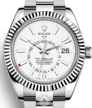 Rolex SKY-DWELLER Steel and White Gold 42mm 326934 - Watches R us