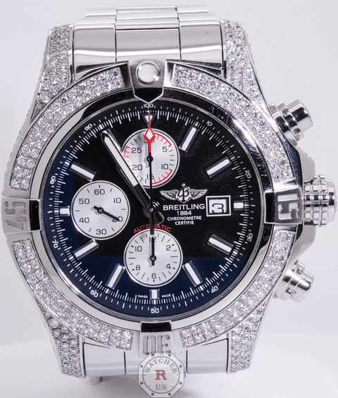 Breitling Super Avenger II Diamond Set Bezel Whole Case A13371 - Watches R us