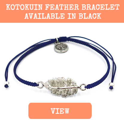 kotokuin feather festival bracelet