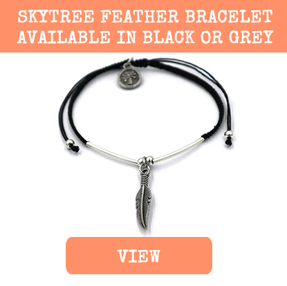 skytree feather festival bracelet