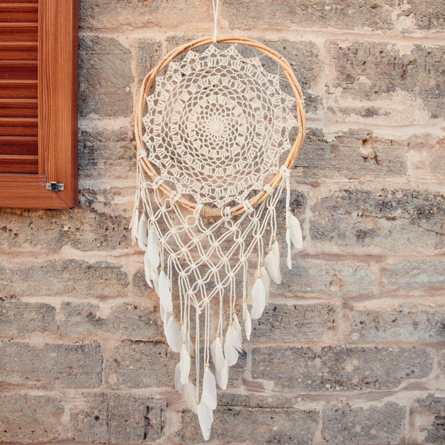Dakota Handmade Dream Catcher Bamboo-Dreamcatcher-Dream catchers-Dreamcatchers-Dream Catchers UK-Large Dream Catcher UK