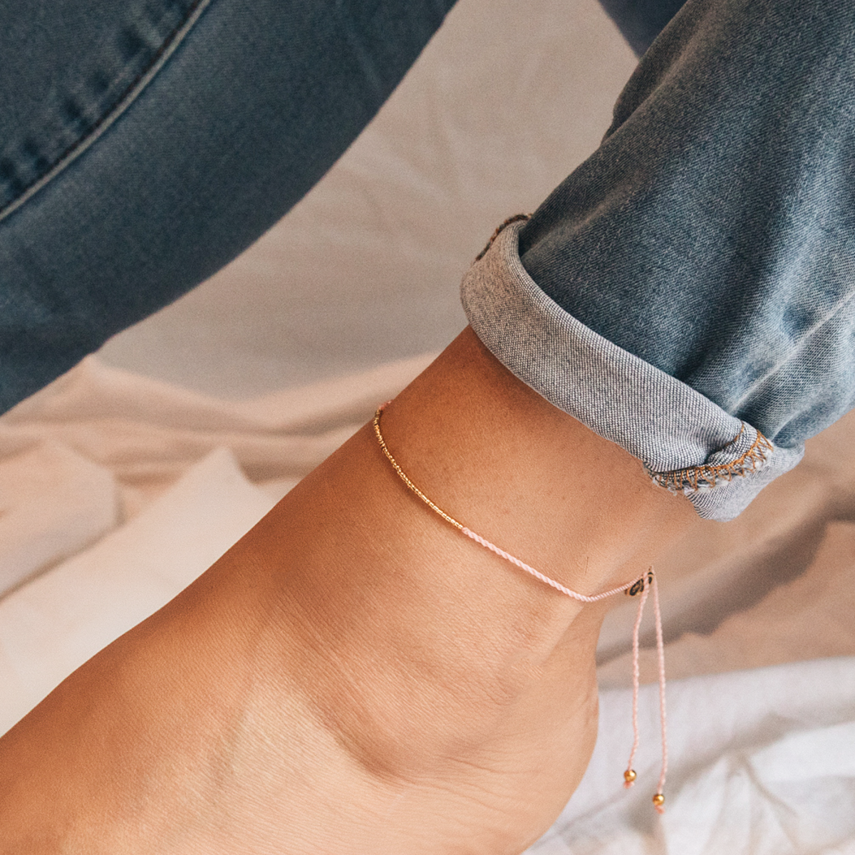 Lyla Beaded Anklet