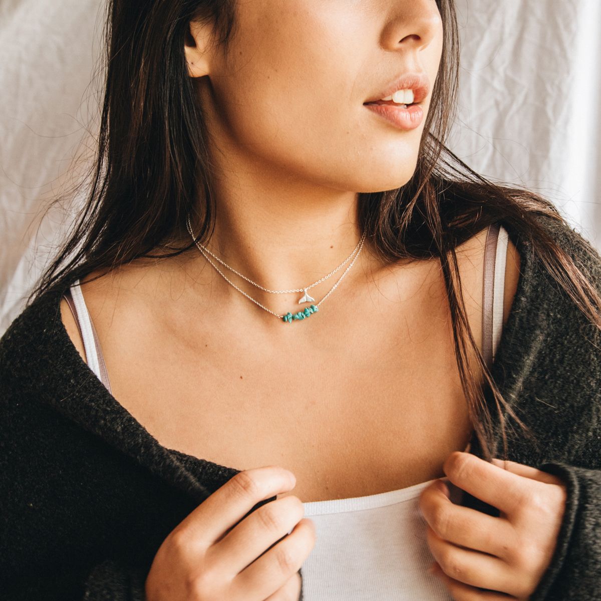 Asri Turquoise Whale Tail Necklace Set | Pineapple Island