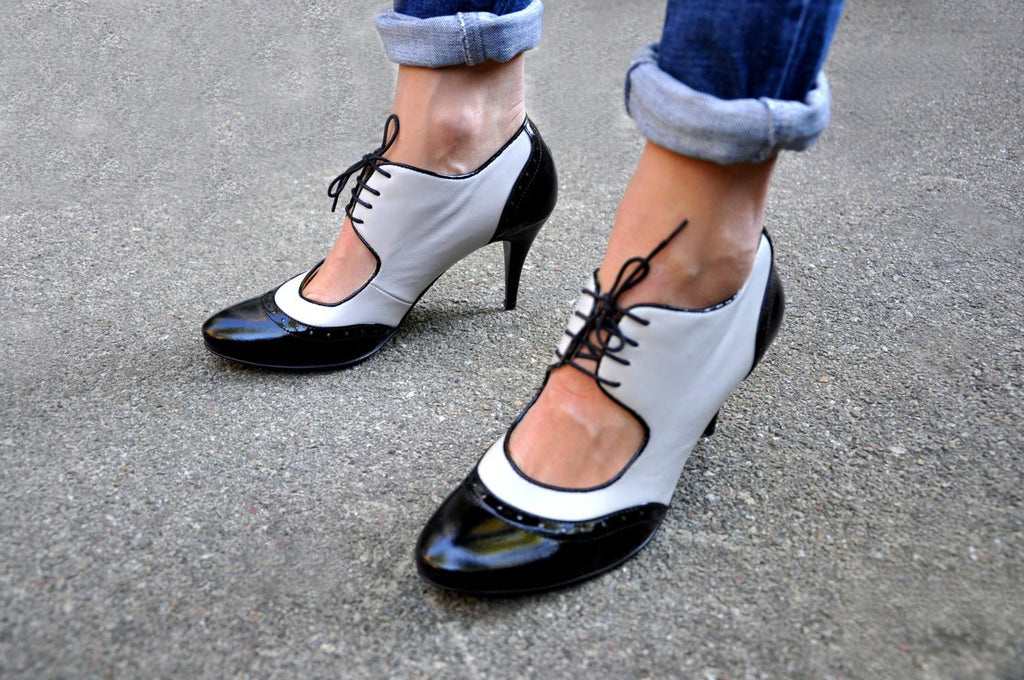 Black and white shoes by JuliaBoShoes