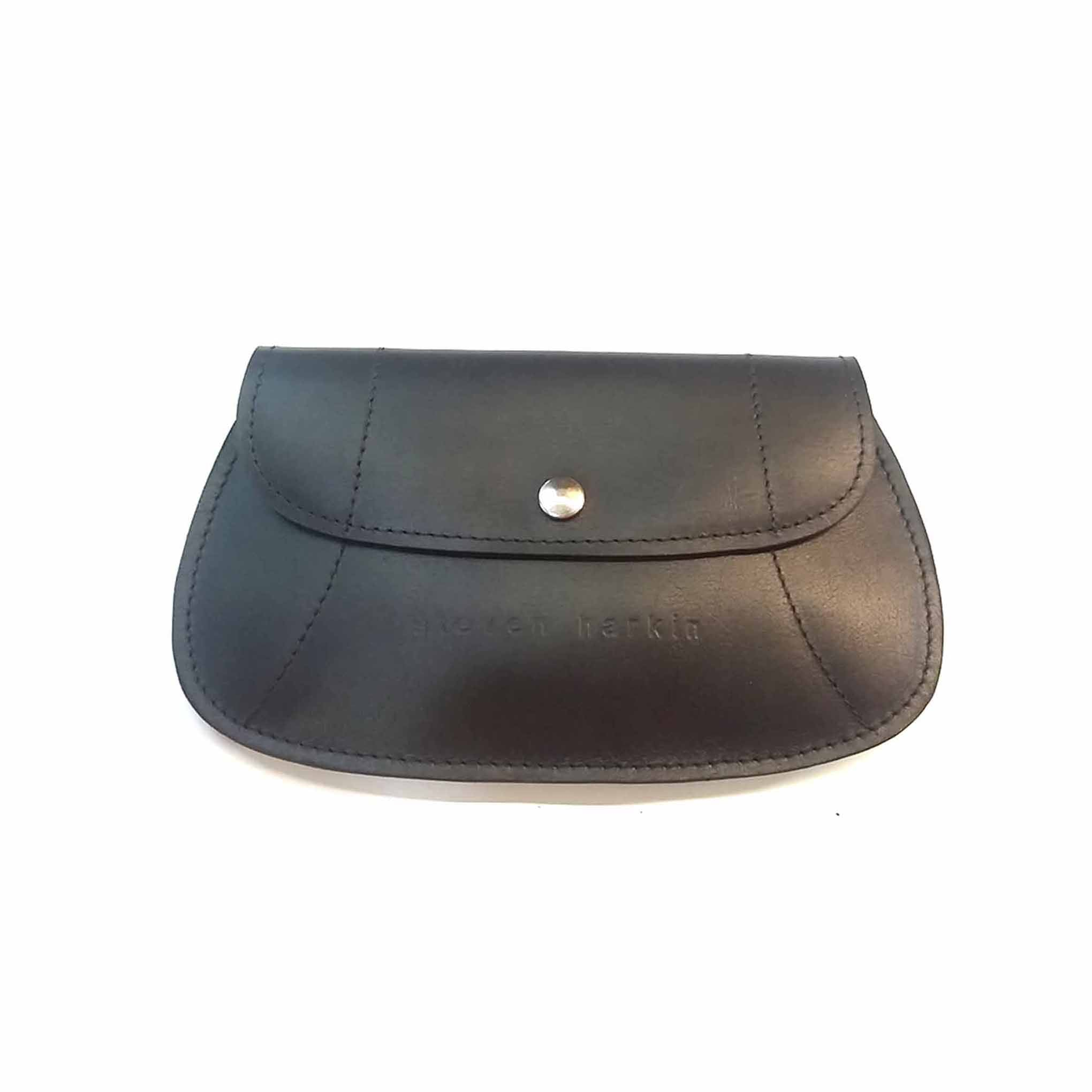 Black Flat Leather Purse