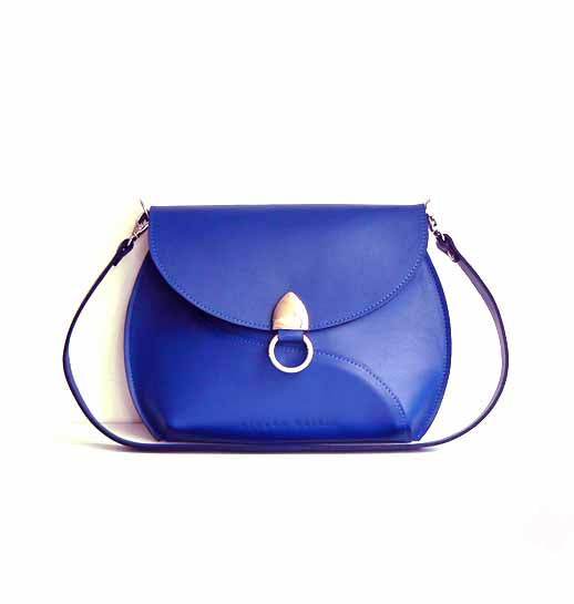 Cobalt Blue Leather Cross Body Bag
