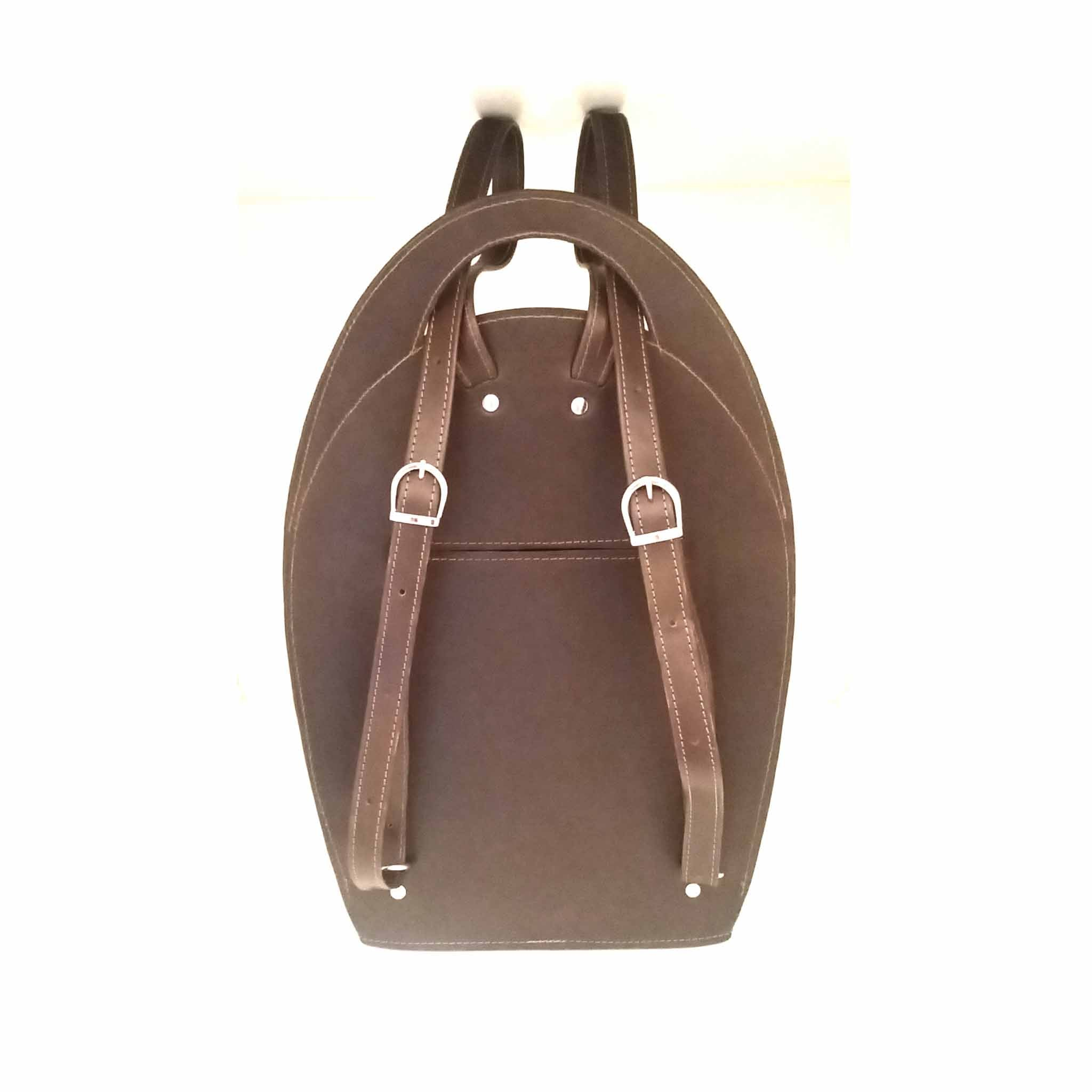 Luxury Brown Leather Backpack