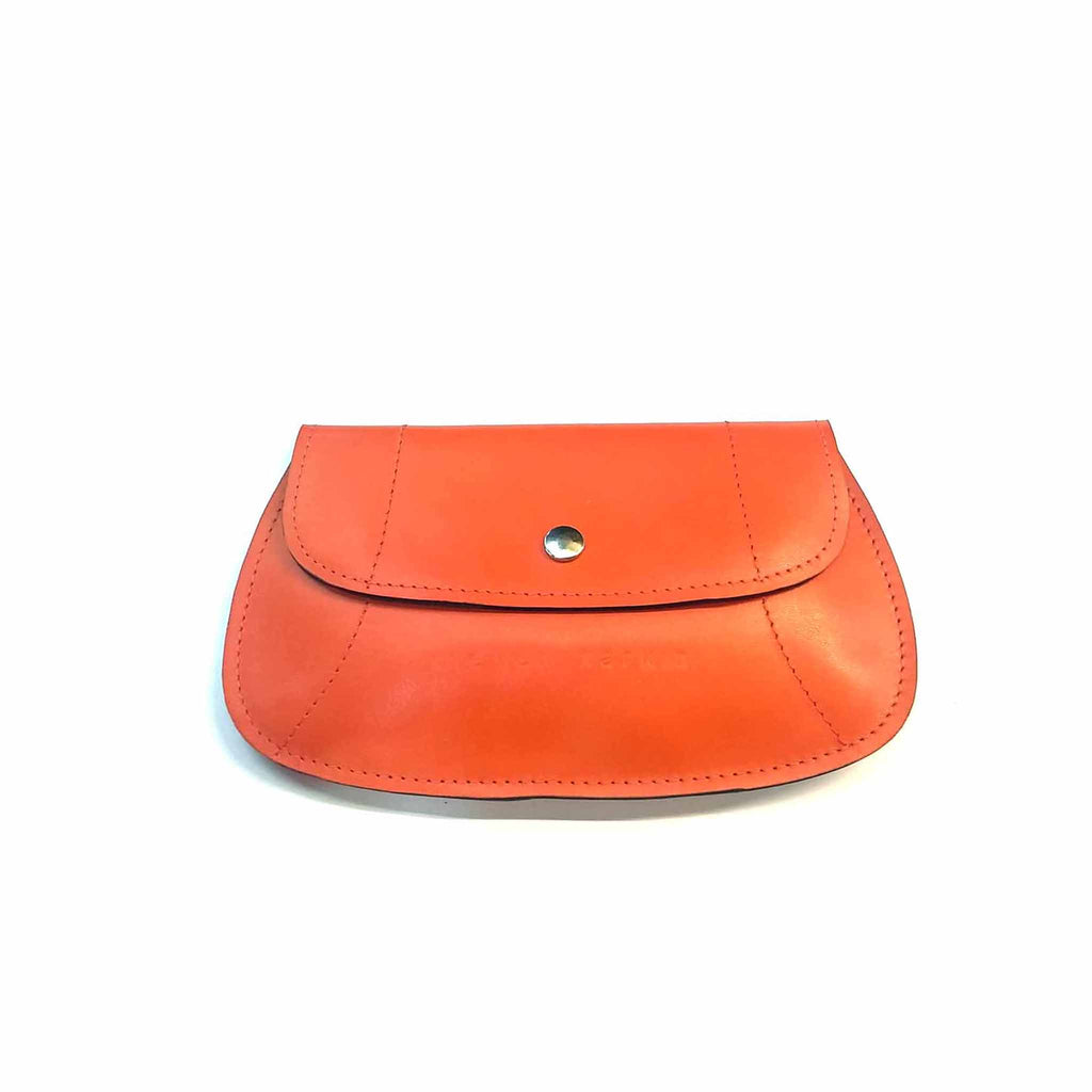 Orange leather bum bag