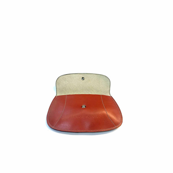 Tan Flat Leather Purse