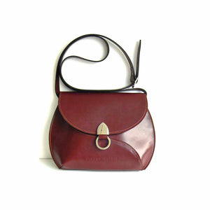 Burgundy Leather Cross Body Bag SOLD OUT