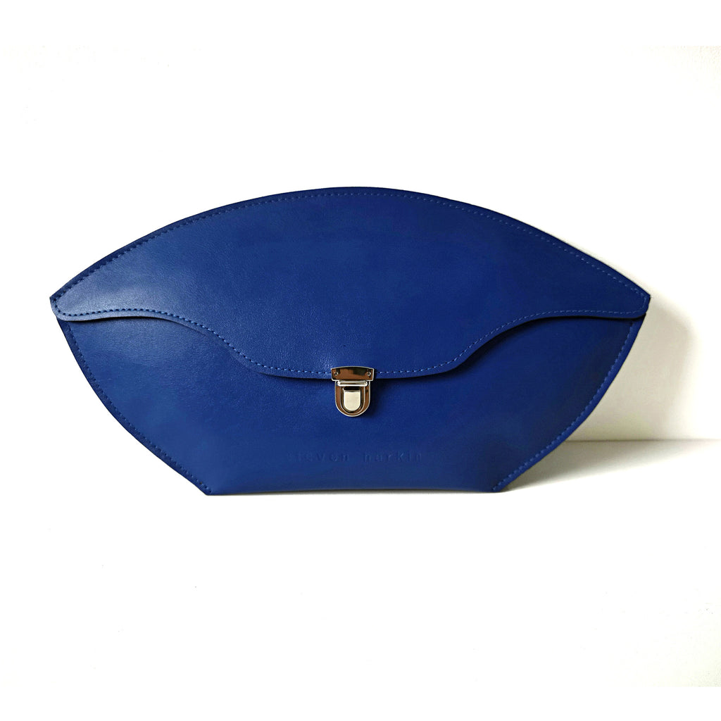Indigo blue clutch bag