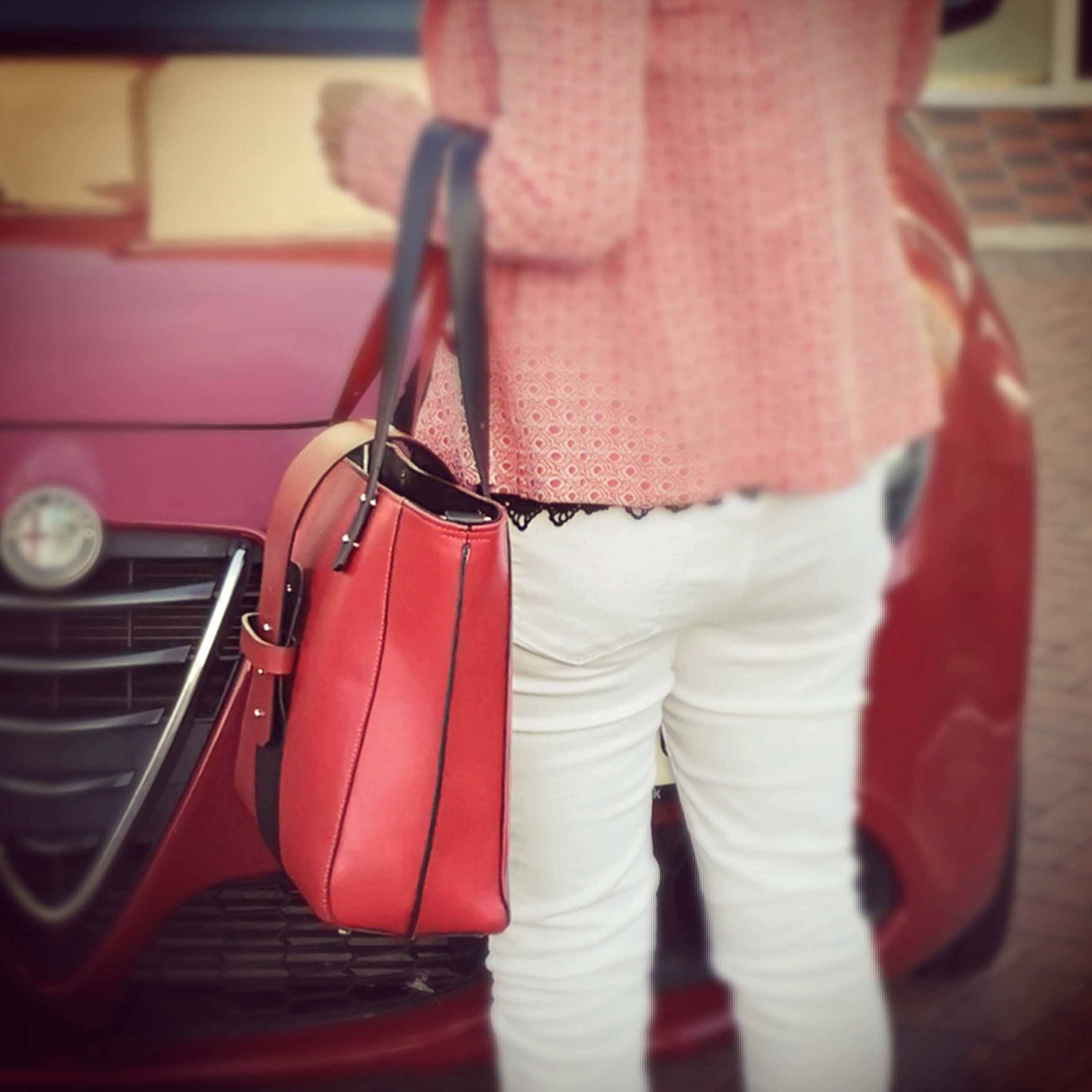 Red Tote Bag - The Kathryn bag