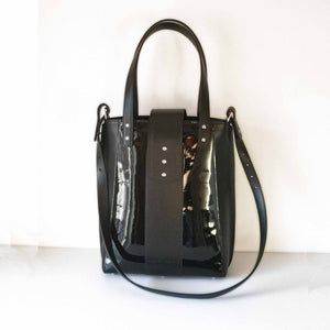Patent black Tote Bag - NEW - The Kathryn bag