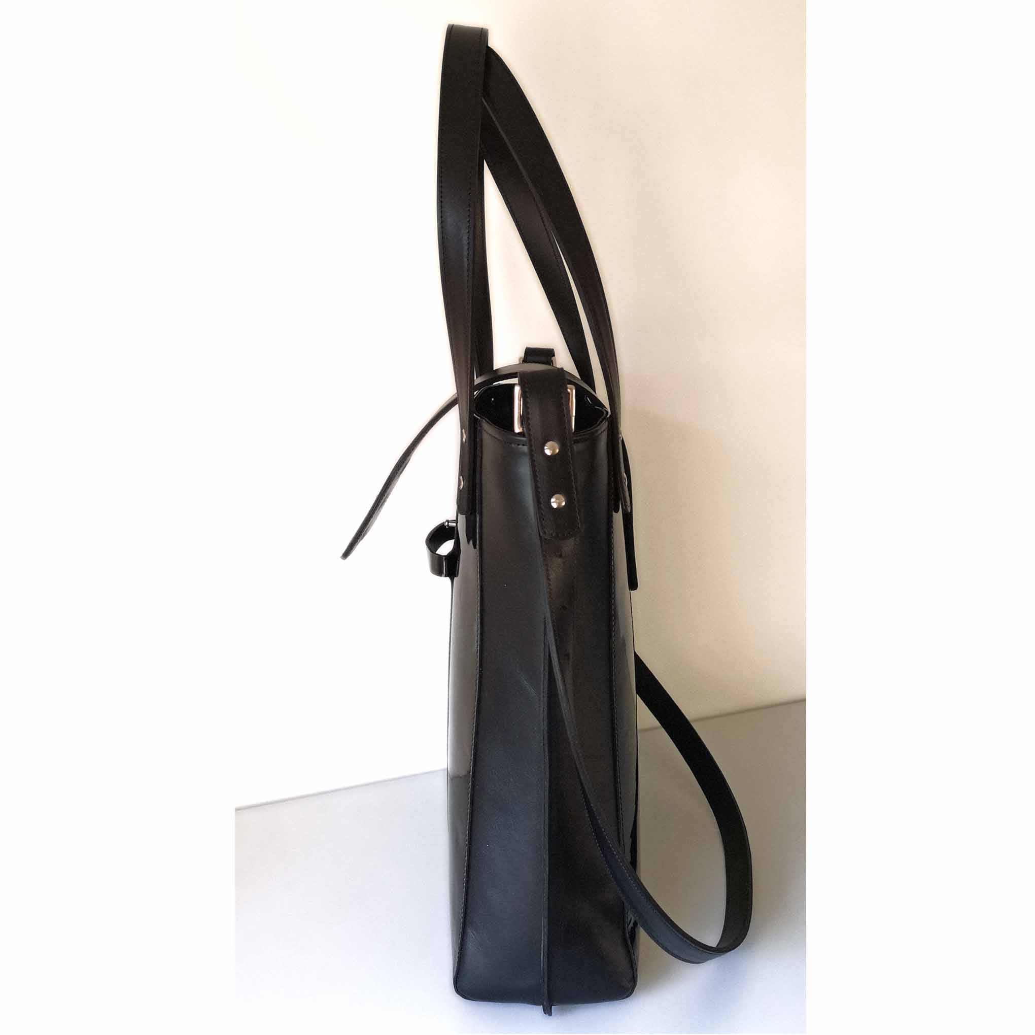 Patent black Tote Bag  - The Kathryn bag