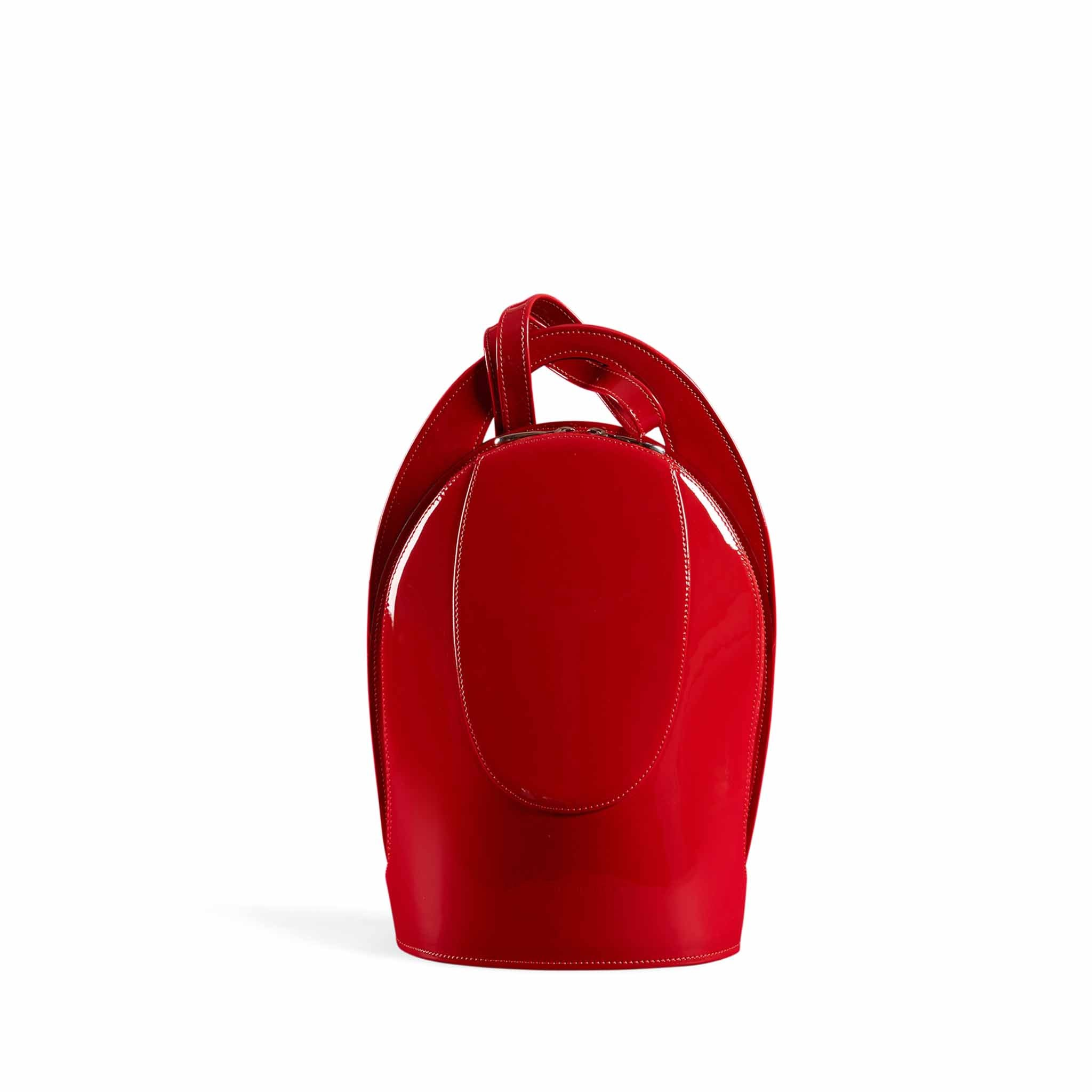 Mini Patent Red Backpack
