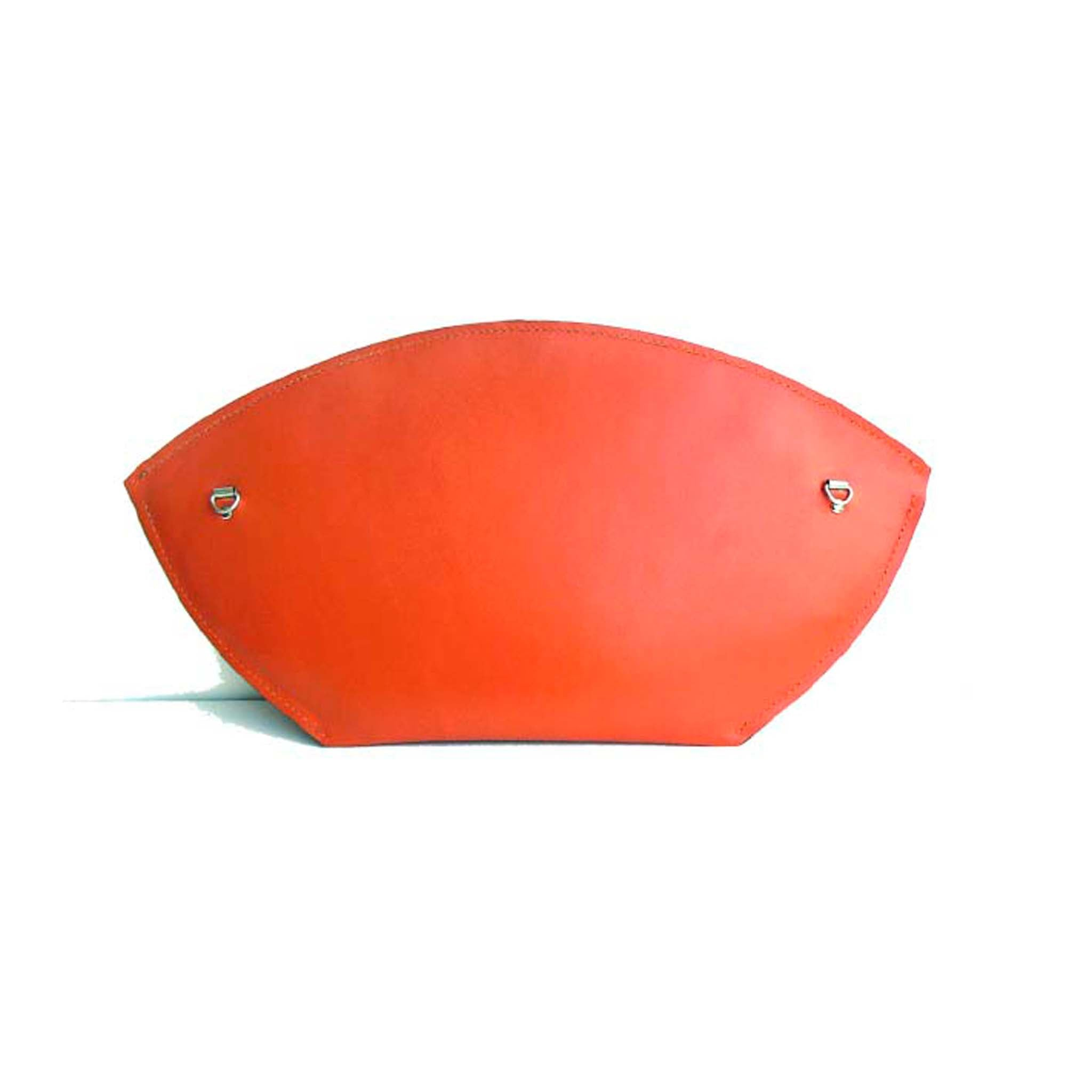 Orange Clutch Bag with Strap