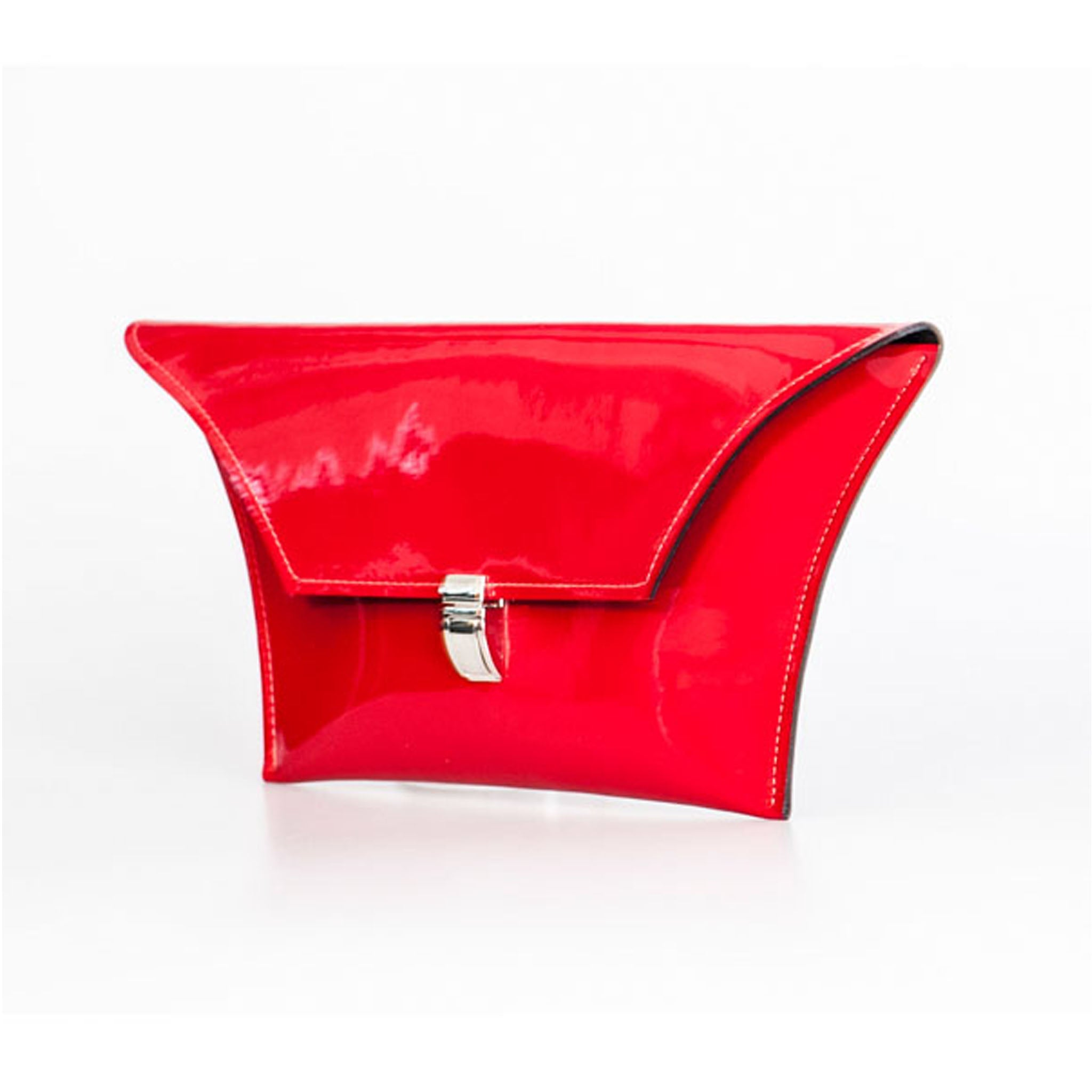 Red Patent Clutch Bag