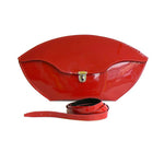 Glossy Clutch Bag with Strap