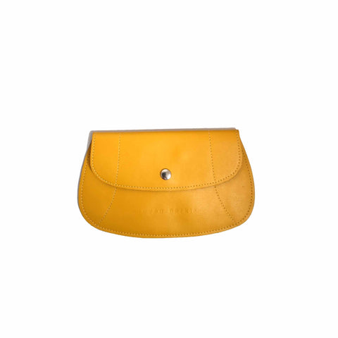Yellow Flat Leather Purse