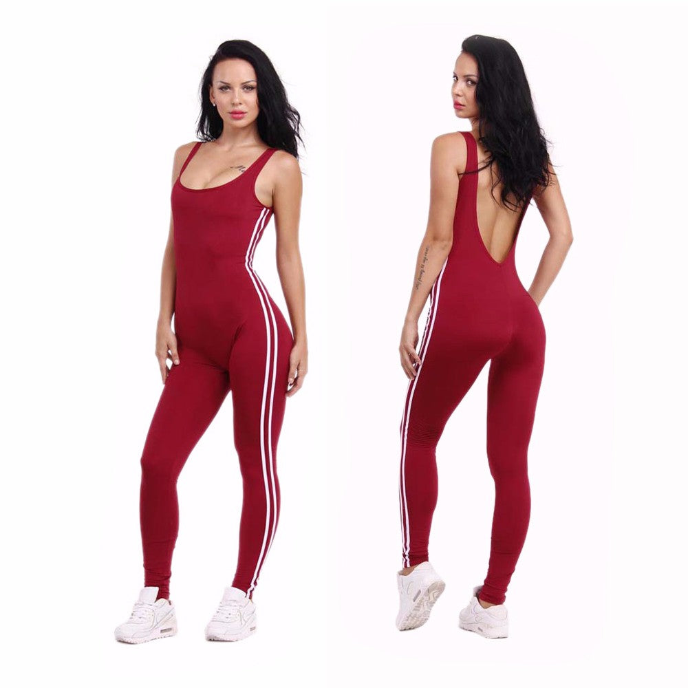Classic Sporty Backless Jumpsuit - 3 colours